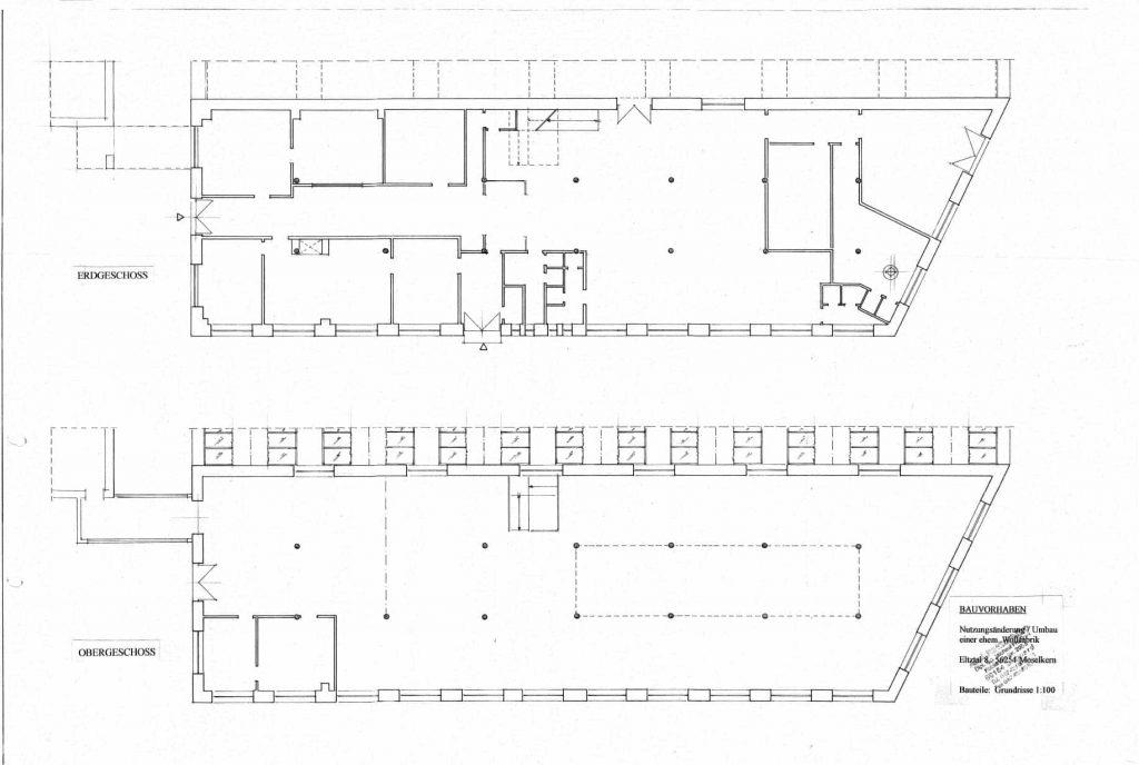 Abbildung: Grundriss der Alten Wollfabrik Moselkern